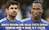 Didier drogba and diego costa funny memes