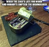 The chef is late memes