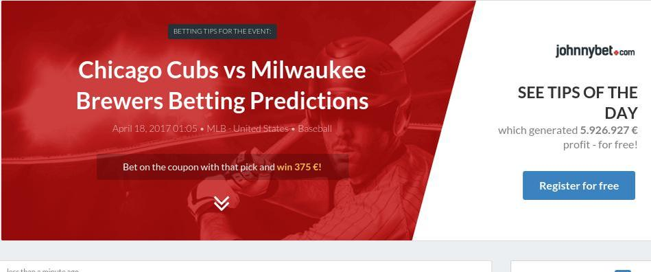 Milwaukee Brewers Vs Chicago Cubs Prediction