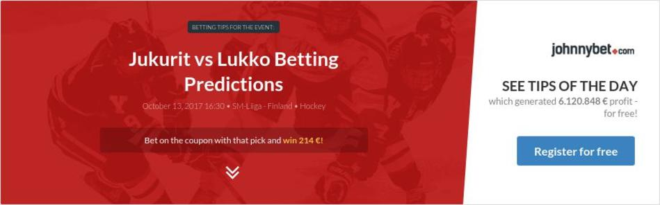 Jukurit vs Lukko Betting Predictions