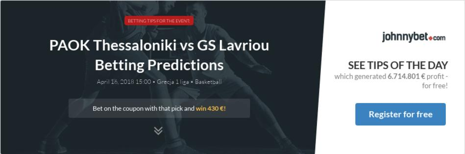 Paok thessaloniki vs gs lavriou betting predictions tips for 10 best audiobooks of 2013 salon