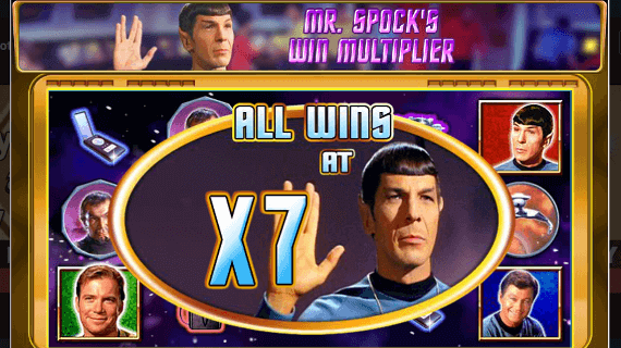 Star Trek slot machine bonus game