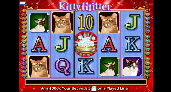 Play Kitty Glitter slot machine online at Ladbrokes casino free