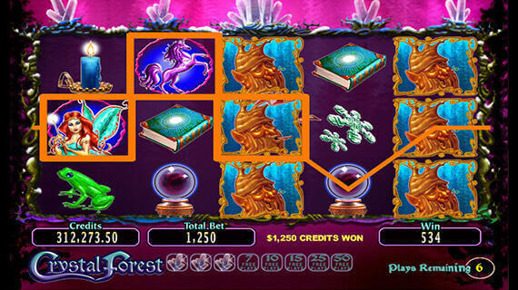Play Crystal Forest slot online Maria Casino game